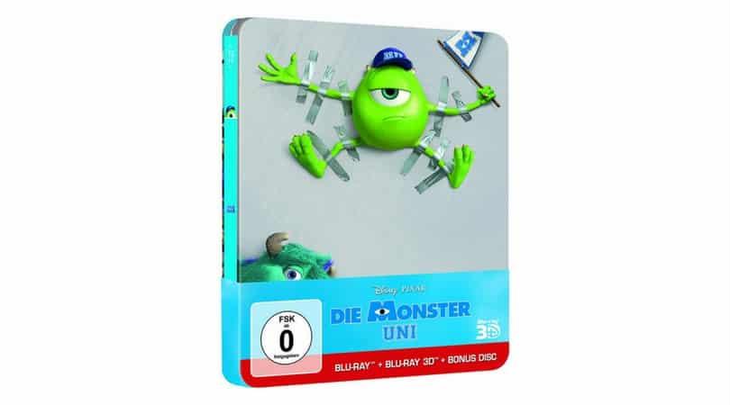 Die Monster Uni – Steelbook Edition (Blu-ray 2D + Blu-ray 3D) für 7,99€