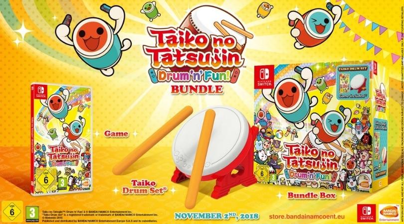Taiko No Tatsujin Drum N Fun Bundle Inkl Trommel