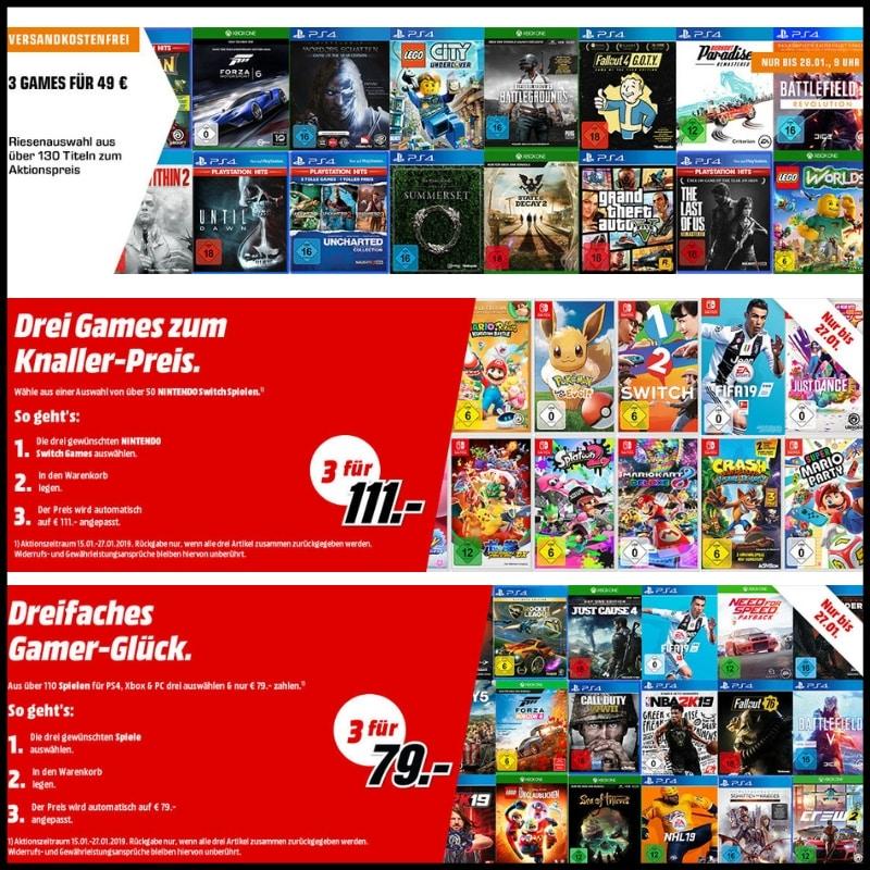 [Angebot] 3 Games für 49€ – 3 Games für 79€ – 3 Switch Spiele für 111€