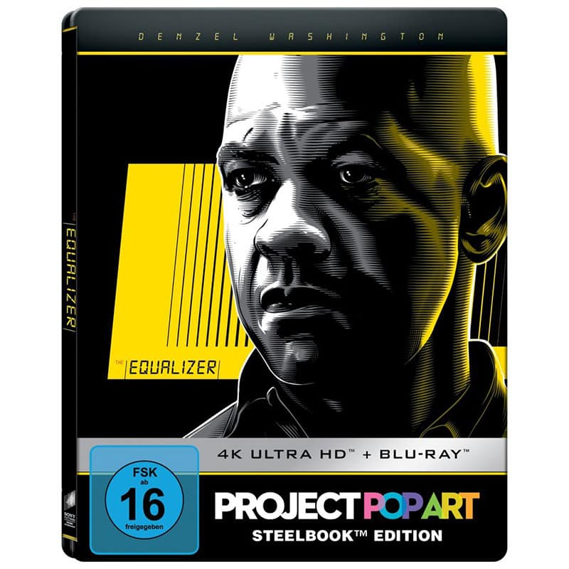 The Equalizer – Steelbook Edition (Project PopArt) (4K UHD + Blu-Ray) für 11,47€