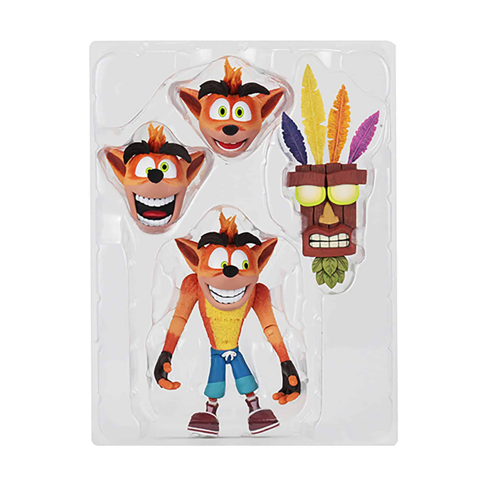 "NECA Crash Bandicoot - 7"" Scale Action Figure- Ultra Deluxe Crash Bandicoot für 42,48€"