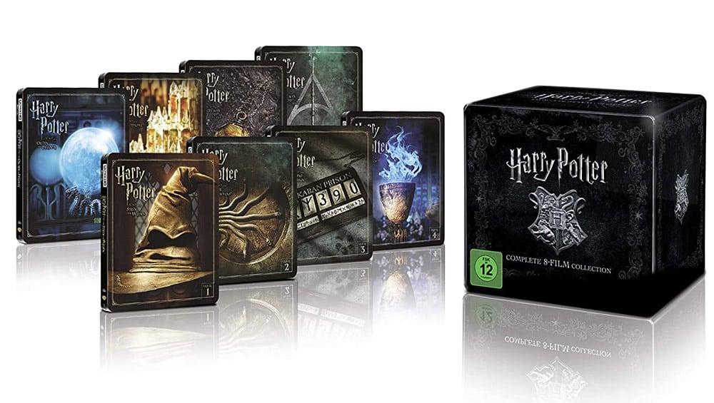Harry Potter 4K Steelbook Complete Collection (16-Discs) – (4K Ultra HD Blu-ray + Blu-ray) für 149,99€
