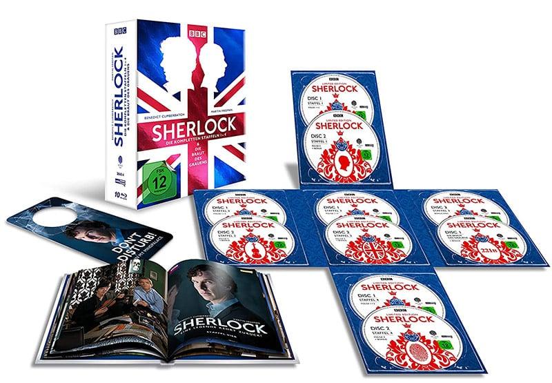 """""""Sherlock"""" Die kompletten Staffeln 1-4 & Die Braut des Grauens in der Blu-ray Collectors Edition für 38,98€"""