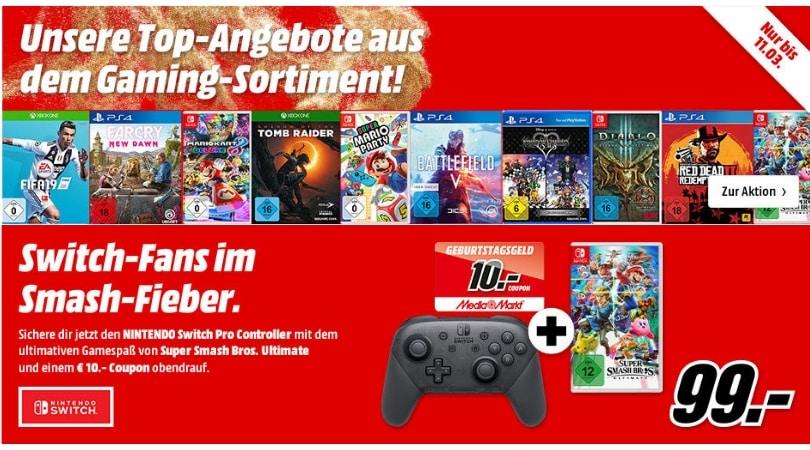 [Angebot] Angebote aus dem Gaming Sortiment bei MediaMarkt