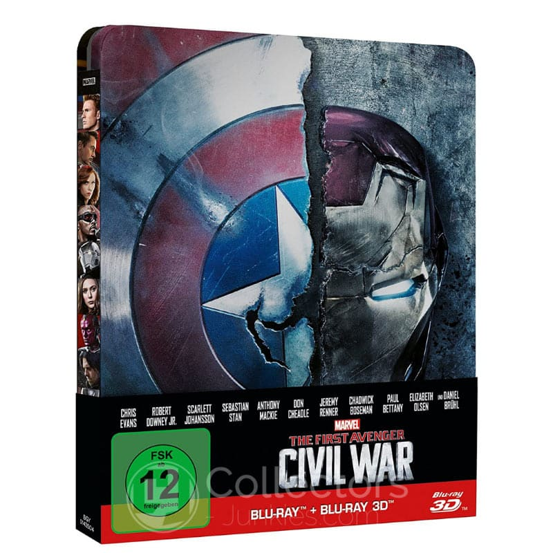 The first Avenger: Civil War – Steelbook Edition (Blu-ray 2D+ Blu-ray 3D) für 14,92€