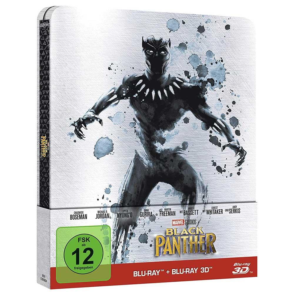 Black Panther – Steelbook Edition (Blu-ray + Blu-ray 3D) für 10,99€