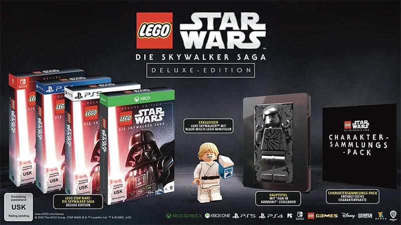LEGO Star Wars: Die Skywalker Saga – Deluxe Edition inkl. Steelbook (Playstation 4/5, Xbox Series X/One, Nintendo Switch)