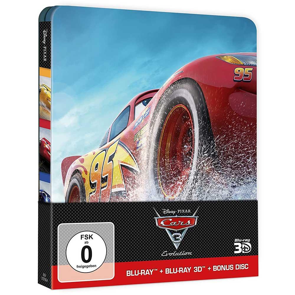 Cars 3: Evolution – Steelbook Edition (3D/2D Blu-ray + Bonusdisc) für 14,99€