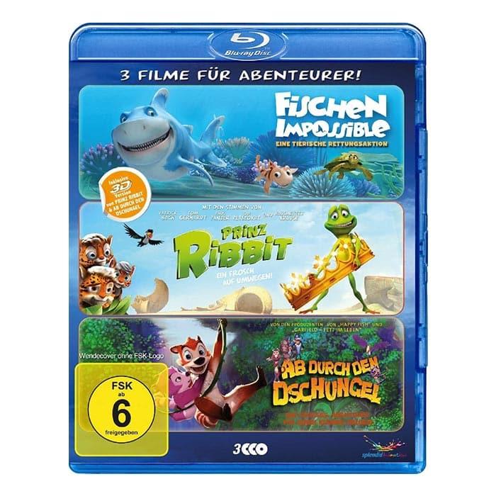Abenteurer-Box – Fischen Impossible | Prinz Ribbit | Ab durch den Dschungel (Blu-ray 3D) für 8,89€
