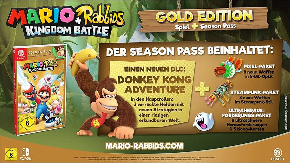 """""""Mario & Rabbids Kingdom Battle"""" in der Gold Edition für die für 26,99€"""