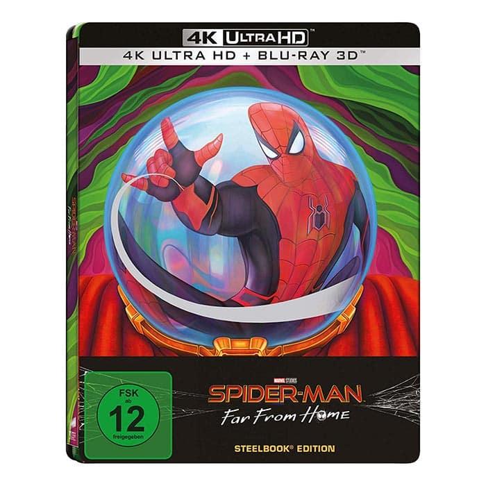 Spider-Man: Far From Home – Amazon exklusives Steelbook (4K UHD + Blu-ray 3D) für 25,97€