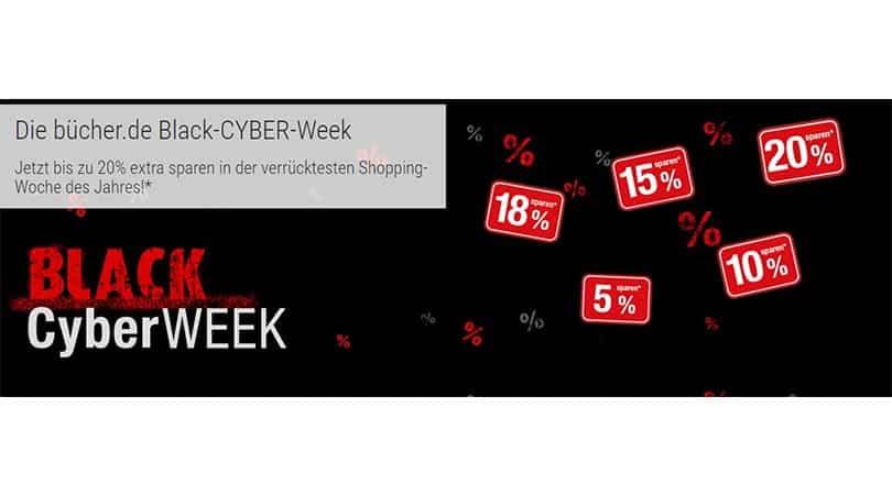 Black Week bei Buecher: 10% auf alle Games   15% auf alle Filme   18% auf Spielwaren