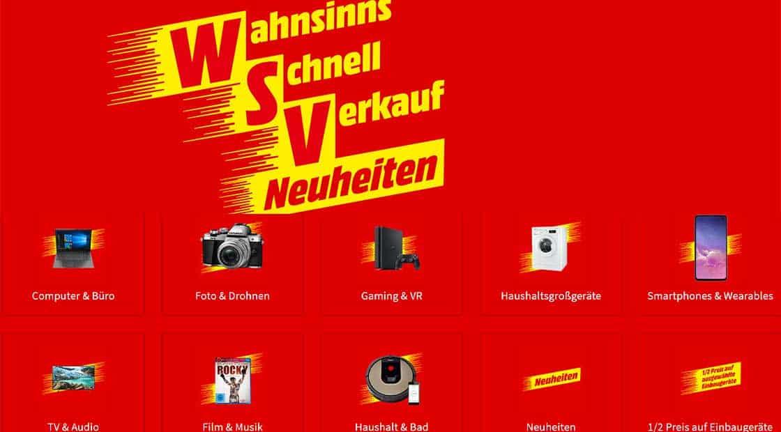 WSV bei MediaMarkt – reduzierte Filme, Games, Technik uvm.