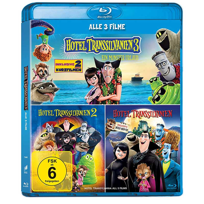 Hotel Transsilvanien 1 -3 Blu-ray Collection für 6,47€