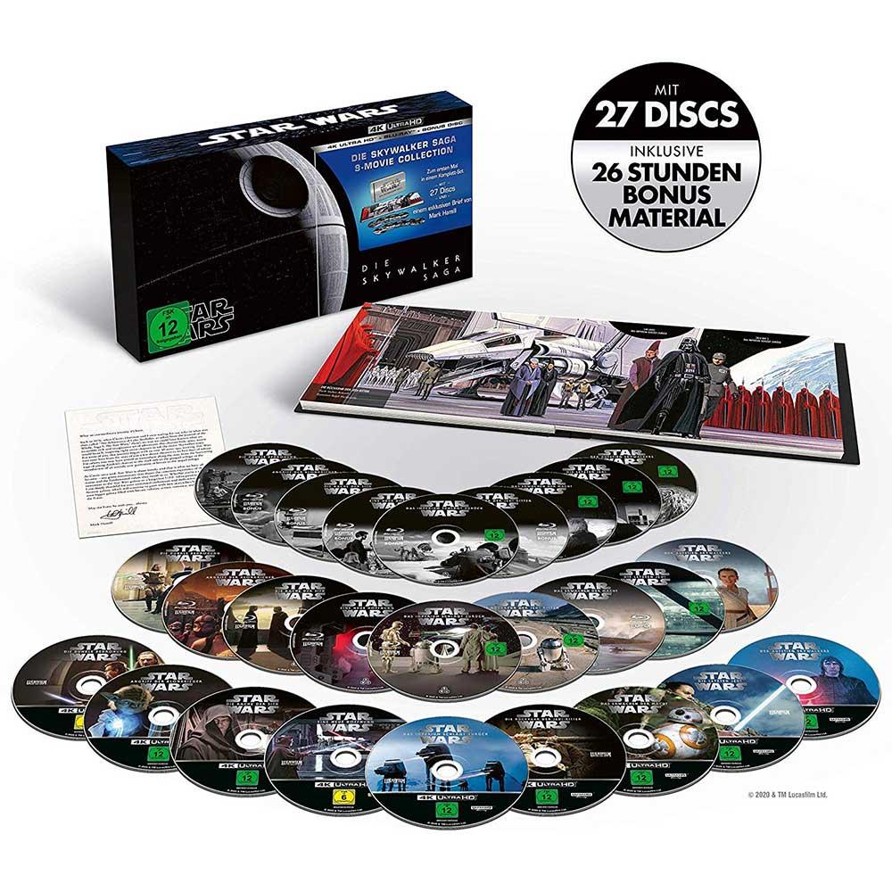 Star Wars 1 – 9 – Die Skywalker Saga (4K UHD + Blu-ray) für 124,97€