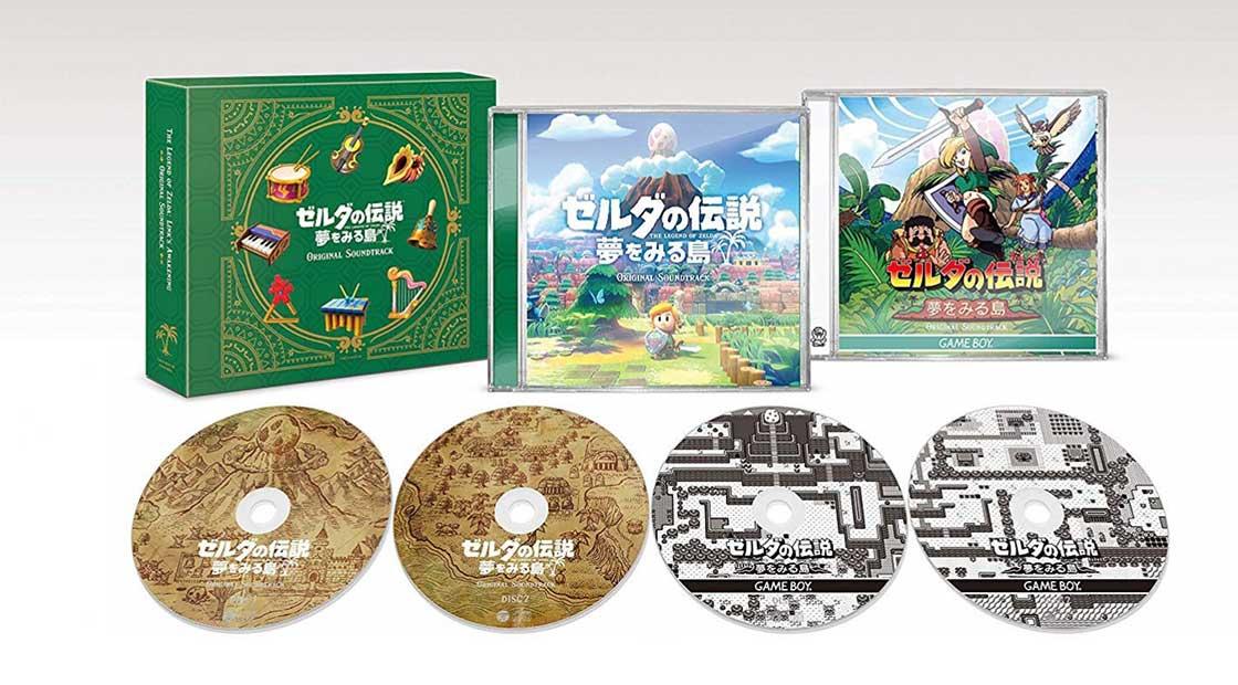 The Legend of Zelda: Link's Awakening – original Soundtrack in der Limited Edition (4x CD) für 52,49€