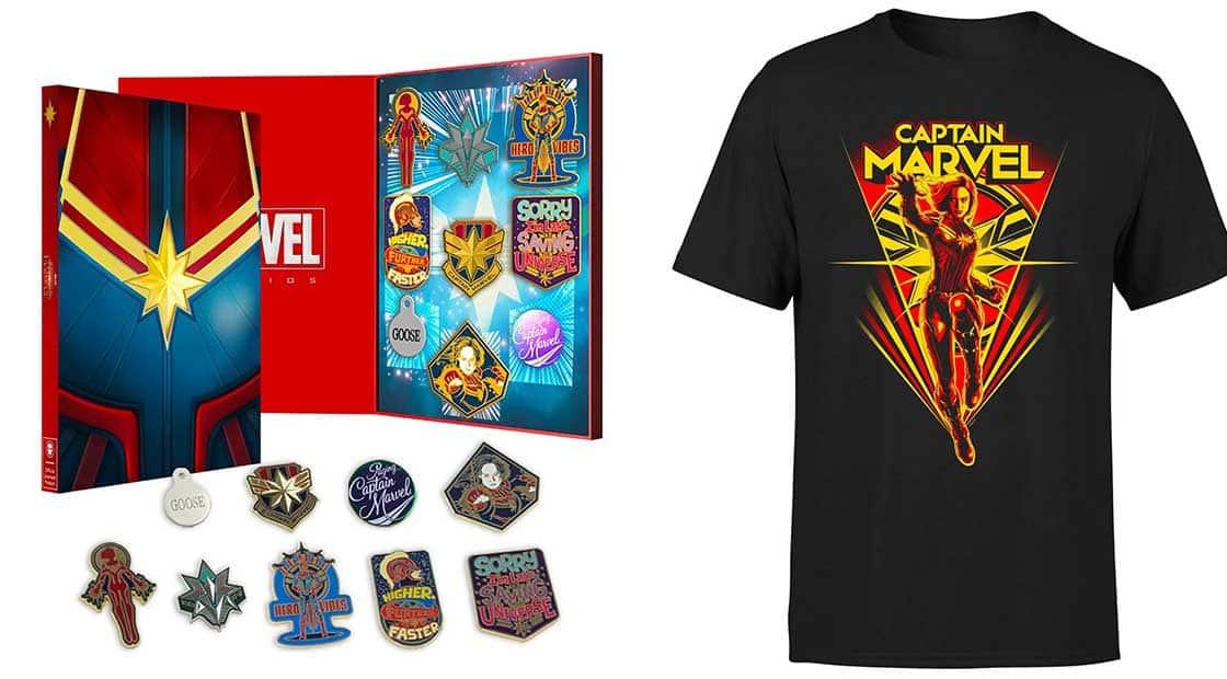 Captain Marvel Pin Set + T-Shirt für 14,99€