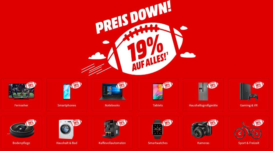 """""""Preis Down"""" bei MediaMarkt – 19% Superbowl Rabatt zwischen 04:00 Uhr und 05:00 Uhr"""