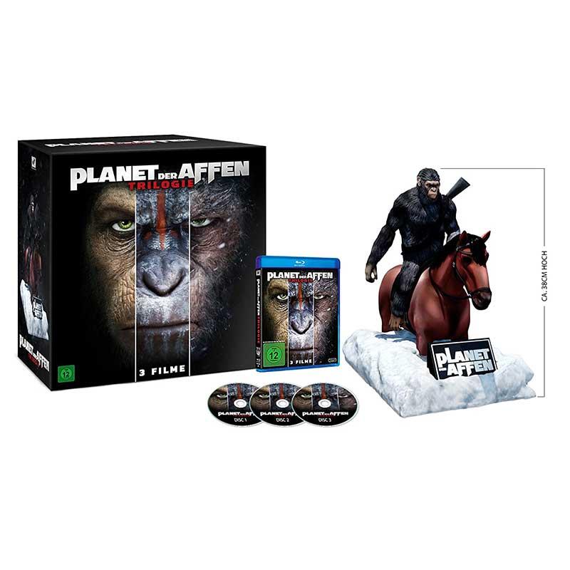 Planet der Affen Trilogie – Special-Edition mit Caesar Figur [Blu-ray] für 61,99€