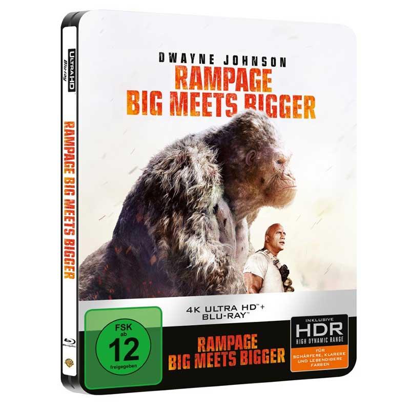 Rampage: Big Meets Bigger – Steelbook Edition (4K UHD + Blu-ray) für 18,99€