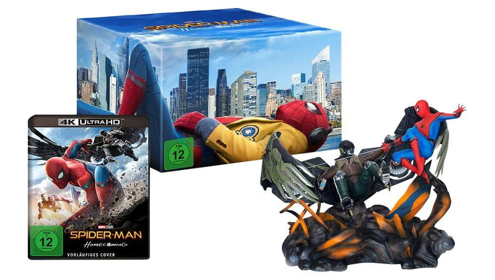Spider-Man Homecoming – Collectors Edition inkl. Spiderman vs. Vulture Figur & 4K UHD + Blu-ray für 72,97€