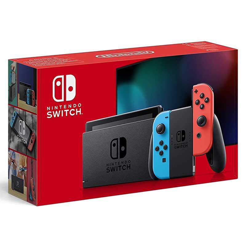 Nintendo Switch Konsole – Neon-Rot/Neon-Blau (V2 Edition) für 299,86€