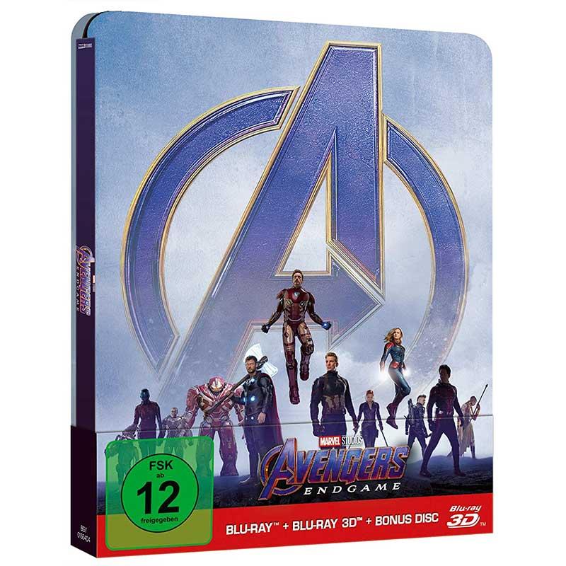 Avengers: Endgame – Steelbook Edition (Blu-ray 3D + Blu-ray + Bonus Blu-ray) für 21,99€