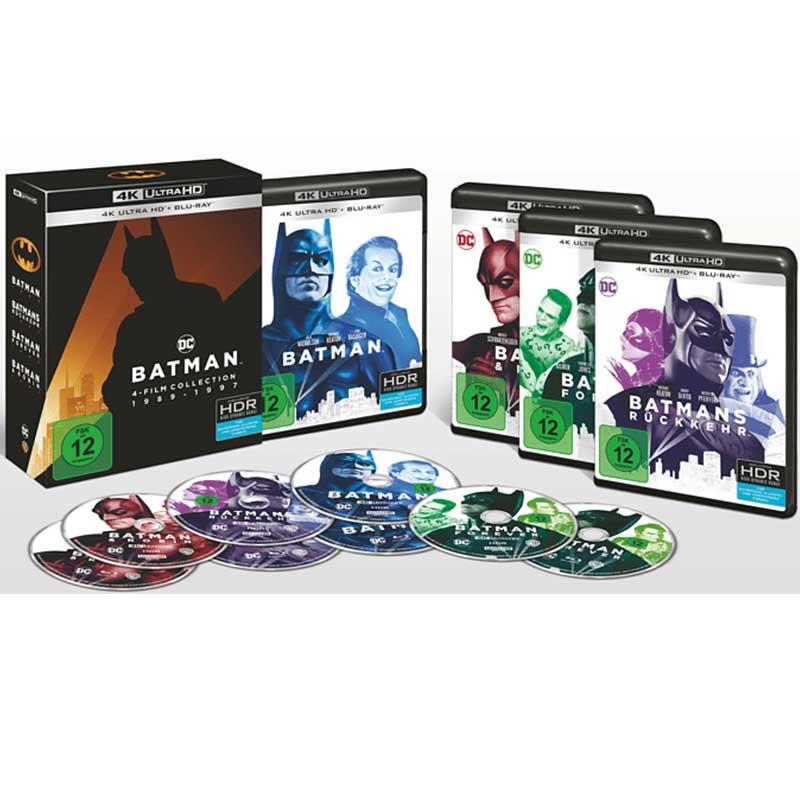 Batman 1-4 Collection (4K UHD + Blu-ray) (8 Discs) für 49,97€