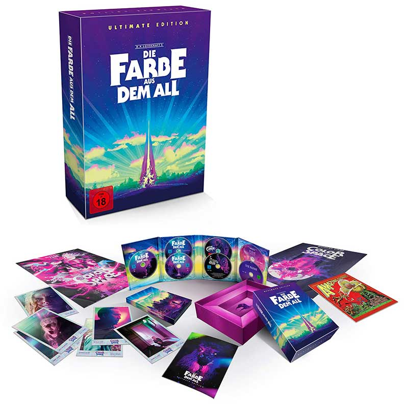 Die Farbe aus dem All – Color Out of Space – Ultimate Edition (4K UHD + 5 Blu-ray + CD) für 69,97€