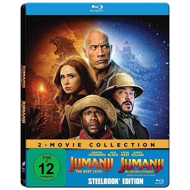 Jumanji: The Next Level & Jumanji: Willkommen im Dschungel im Steelbook (Blu-ray) für 16,97€