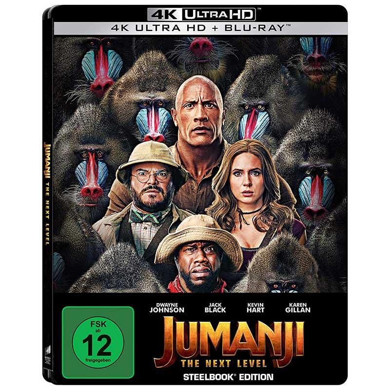 Jumanji: The Next Level – Steelbook Edition (4K UHD + Blu-ray) für 16,48€