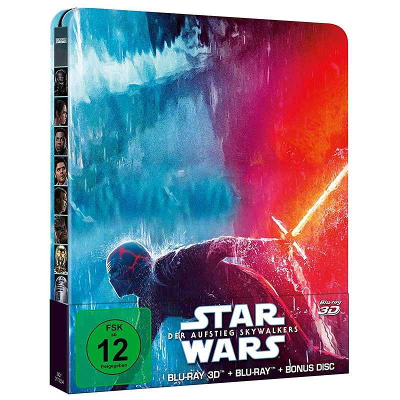 Star Wars: Der Aufstieg Skywalkers – Steelbook Edition (Blu-ray 3D + Blu-ray) für 20,99€