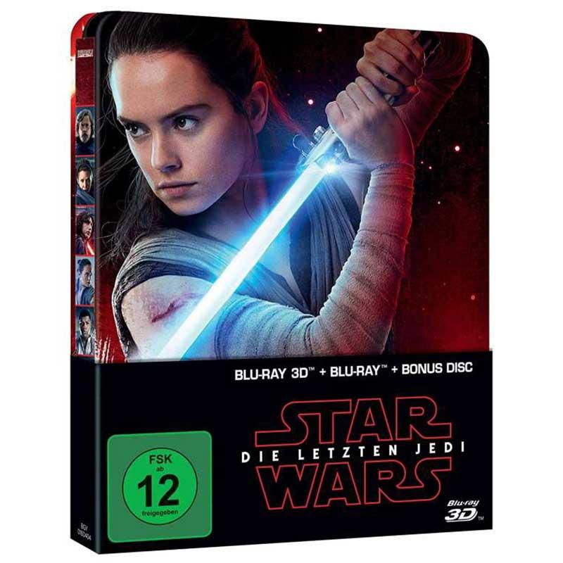 Star Wars: Episode VIII – Die letzten Jedi – Steelbook Edition (Blu-ray 3D + Blu-ray + Bonus Disc) für 13,94€