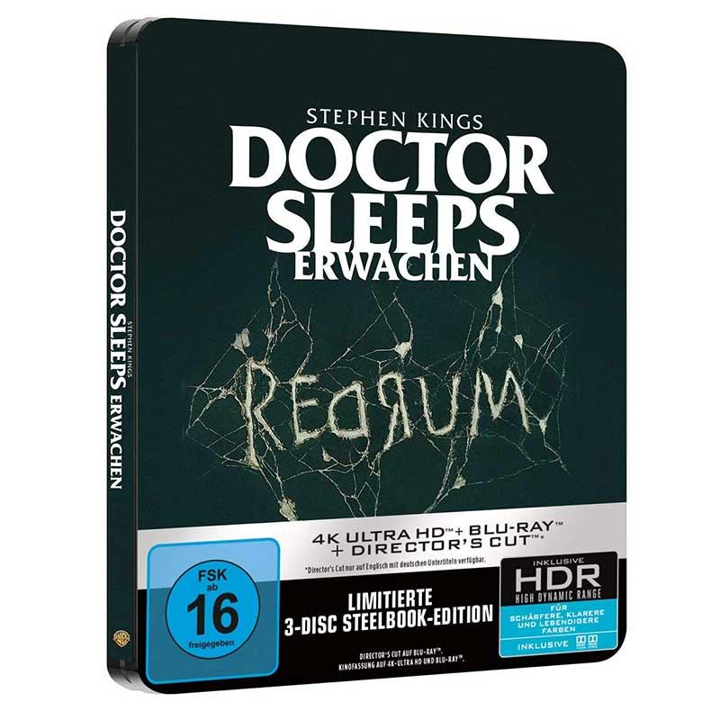 Doctor Sleeps Erwachen – Steelbook Edition (4K UHD + 2 Blu-ray) für 25,99€
