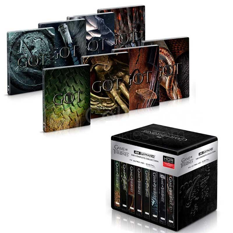 Game of Thrones – die komplette Serie im 4K Steelbook Set für 185,63€ (Italien)