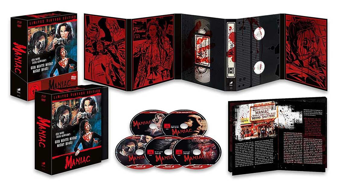 Maniac – Vintage Edition (3x Blu-ray, Bonus Blu-ray, DVD) für 24,99€