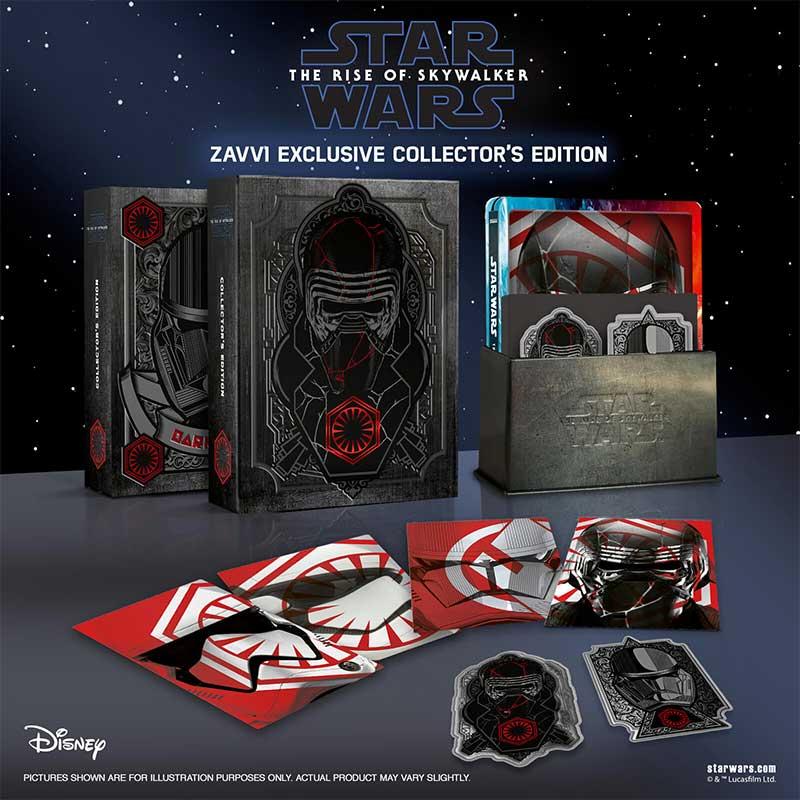 Star Wars: Der Aufstieg Skywalkers – Zavvi Exklusive Collectors Edition (4K + 2D oder 3D + 2D) und einzel Steelbooks (4K + 2D oder 3D + 2D) (England)