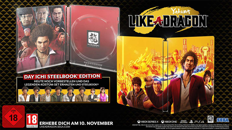 Yakuza 7: Like a Dragon – Day Ichi Edition inkl. Steelbook –  Xbox One/Series X für 26,99€ und PS4/PS5 für 34,99€