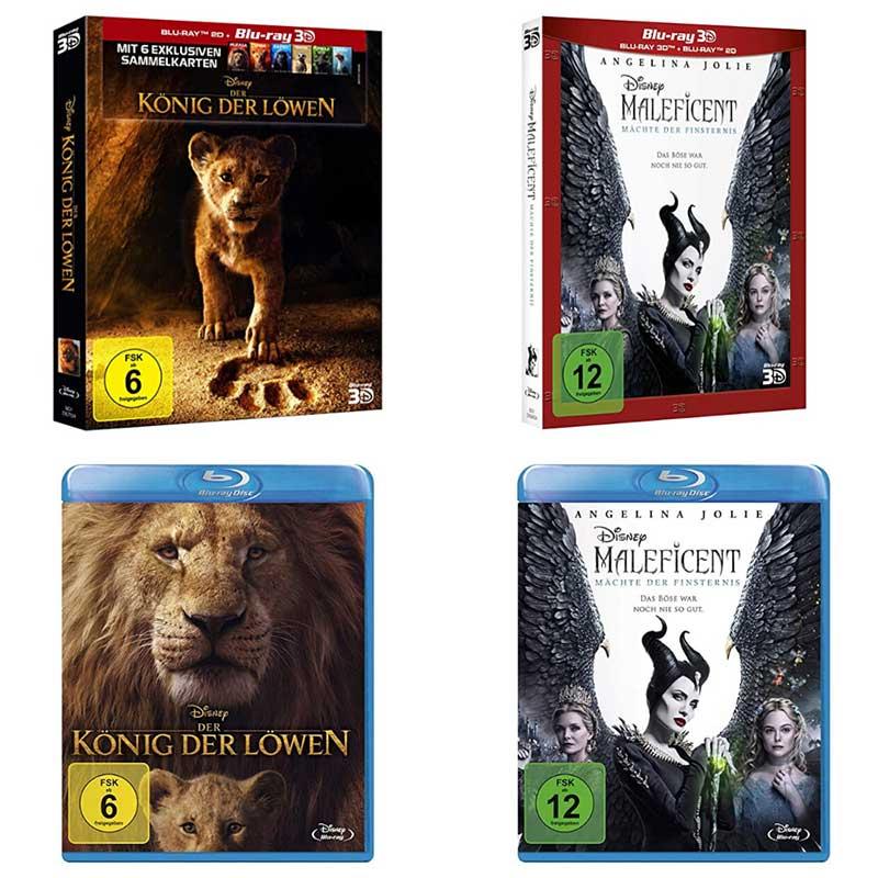 Disney´s König der Löwen & Maleficent 2 im Tagesangebot – Standard Varianten (Blu-ray) für je 10,71€