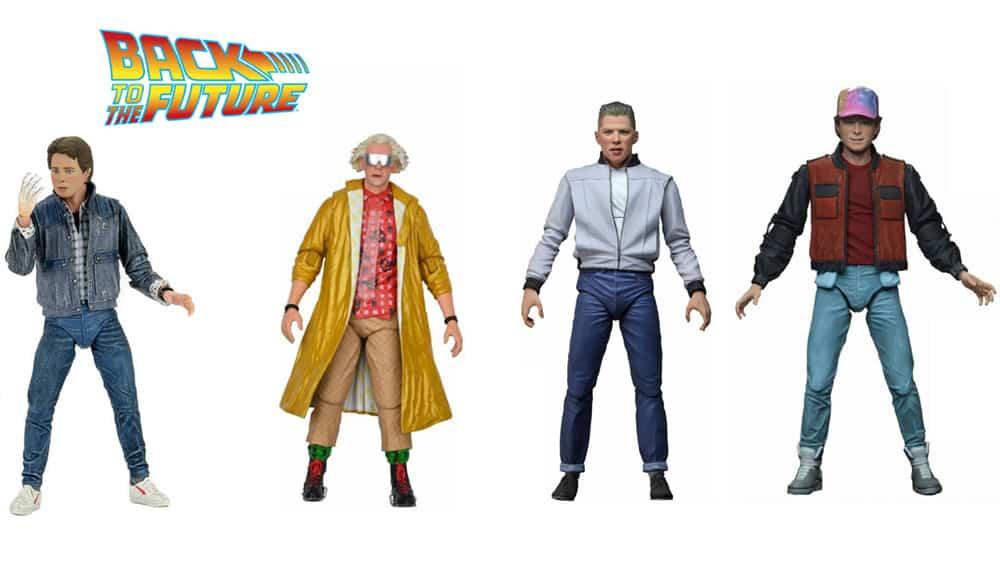 Zurück in die Zukunft: Ultimate Actionfiguren Marty McFly, Doc Brown, Biff Tannen & DeLorean (Neca)