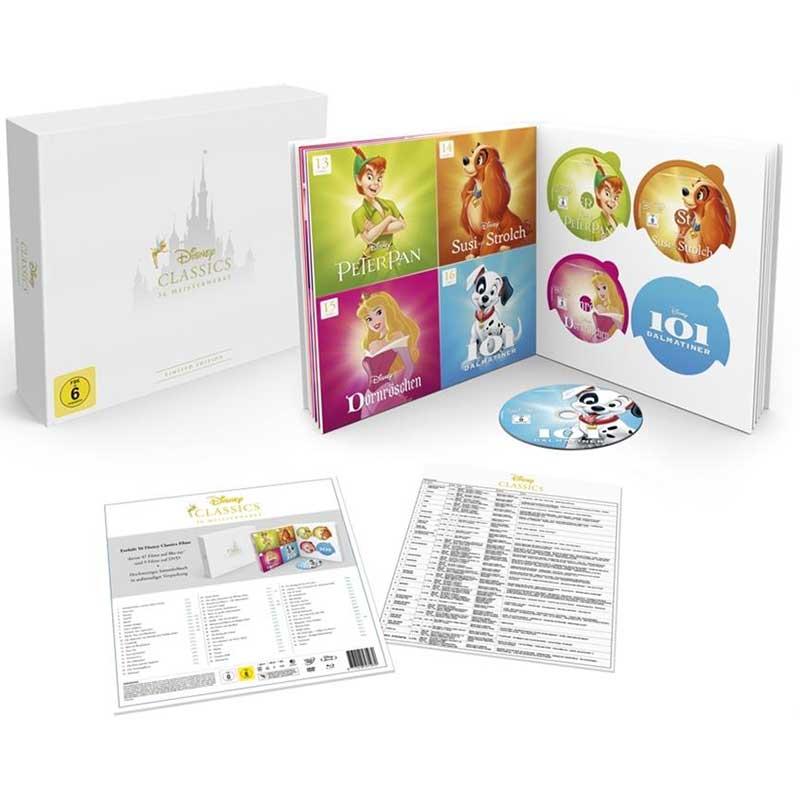 Disney Classics Collection – 56 Filme Collectors Edition (56 Discs – 47 Blu-rays + 9 DVDs) für 184,99€