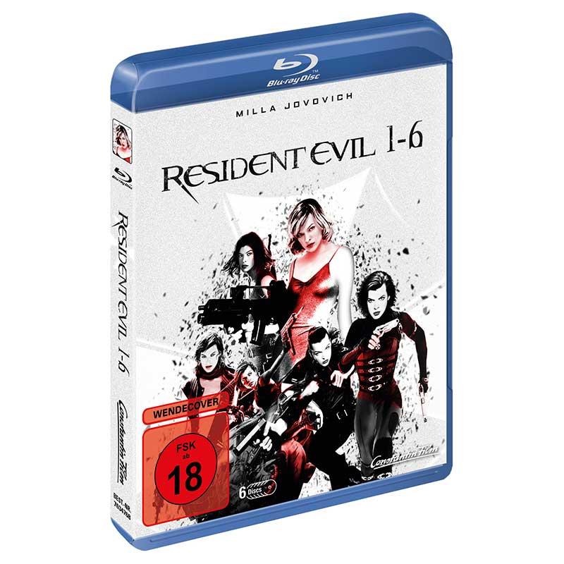 Resident Evil 1-6 Blu-ray Box (inkl. 3D Versionen) für 21,97€