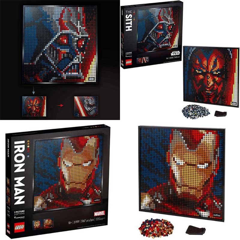 """LEGO """"Star Wars: Die Sith"""" und """"Marvel Studios Iron Man"""" Kunstbild"""