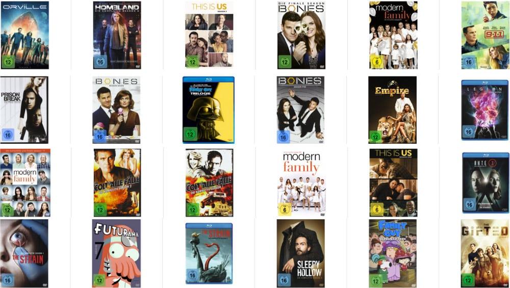 """""""TV Serien: 3 für 2 Aktion"""" – Auswahl aus 90 Titeln (Blu-ray und DVD)"""