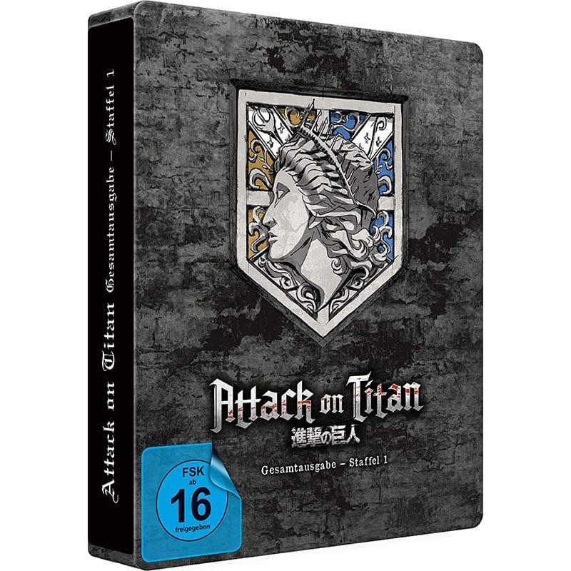 Attack on Titan – Staffel 1 Gesamtausgabe im Amazon exklusiven Blu-ray Steelbook für 71,10€