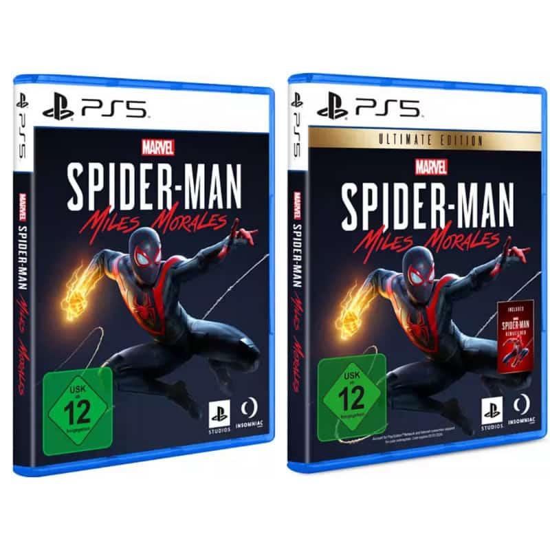 """Spider-Man Miles Morales"" ab 12. November als Standard Variante und Ultimate Edition (PS4/PS5)"