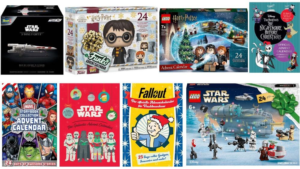 Adventskalender 2021 – Funko Pop | Playmobil | Lego | Star Wars | Marvel | Harry Potter uvm.