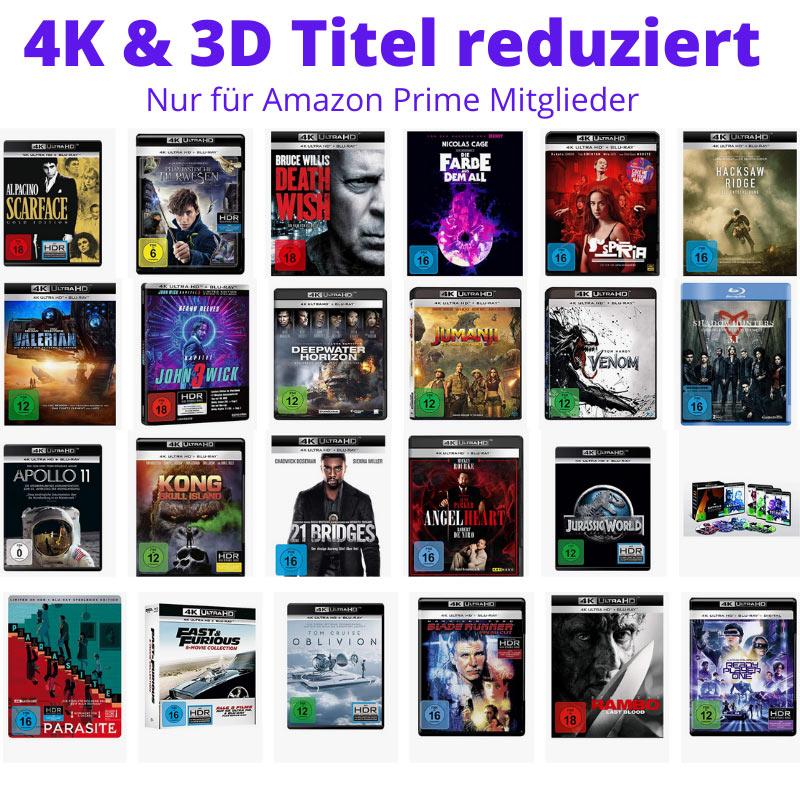 [Angebot Prime] 4K & 3D Titel reduziert – unter anderem: Parasite Steelbook 4K für 22,40€ | 4K Titel ab 12,77€