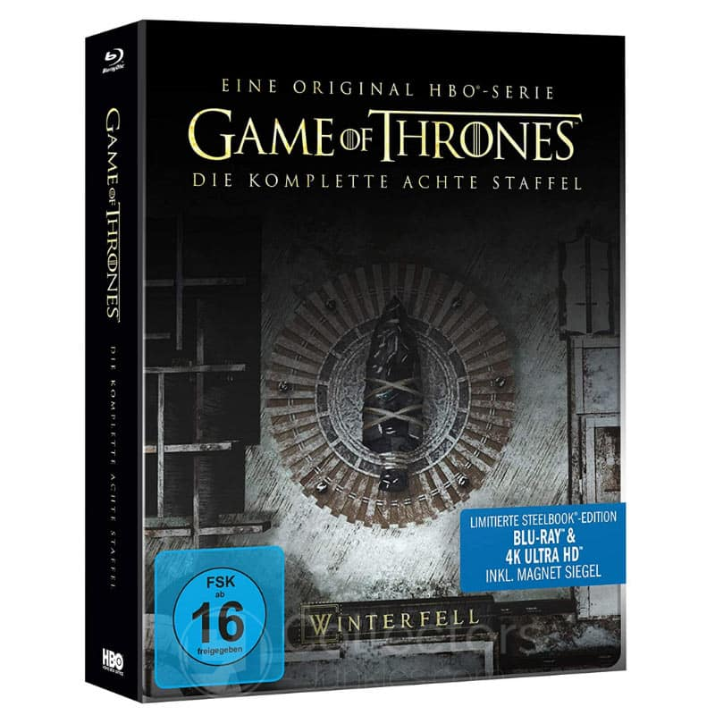 Game of Thrones – die komplette 8. Staffel im Steelbook inkl. Magnet (4K UHD + Blu-ray) für 19,97€