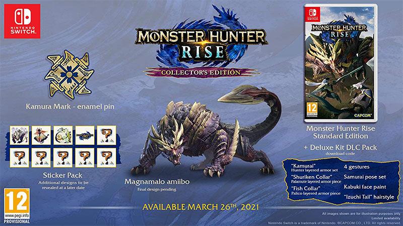 """""""Monster Hunter Rise"""" ab März 2021 in einer Collectors Edition für die Nintendo Switch"""